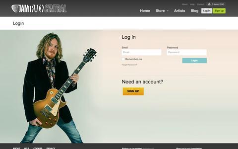Screenshot of Login Page jamtrackcentral.com - Login | Jamtrackcentral - captured Oct. 31, 2014