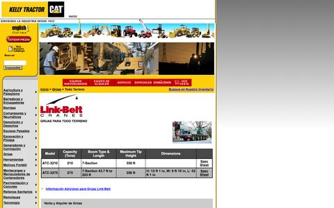 Screenshot of Landing Page kellytractor.com - Kelly Tractor Grúas Para Todo Terreno - captured Aug. 12, 2016