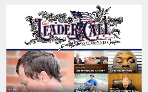 Screenshot of Home Page leader-call.com - leader-call.com | Jones County's Home Town Newspaper - captured Sept. 22, 2018