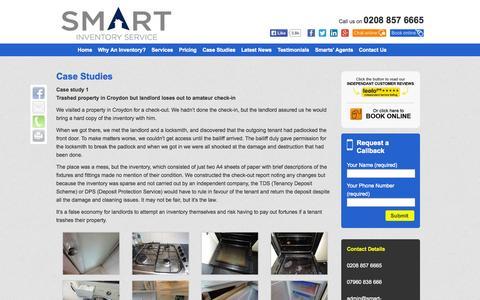 Screenshot of Case Studies Page smart-inventory.co.uk - Case Studies - Inventory, Property Inventory Services   Smart Inventory - captured Oct. 9, 2014