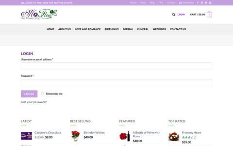 Screenshot of Login Page mftheflowershop.com - My Account – Mo Flow-The Flower Shop® - captured Oct. 20, 2017