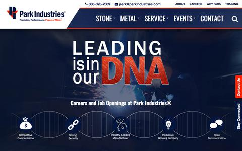 Screenshot of Jobs Page parkindustries.com - Top Manufacturing + Industrial Jobs, Careers St. Cloud MN - captured July 16, 2018