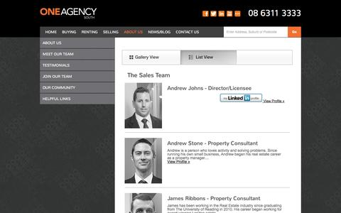 Screenshot of Team Page oneagencysouth.com.au - One Agency | One Agency - captured Oct. 9, 2014