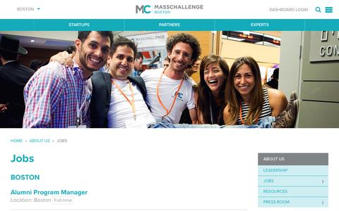 Screenshot of Jobs Page masschallenge.org - Jobs | Boston - captured Jan. 26, 2017