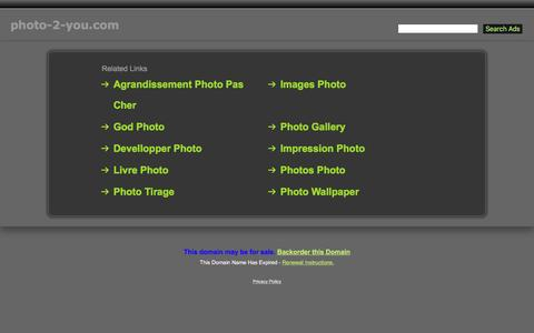 Screenshot of Home Page photo-2-you.com - Photo-2-You.com - captured May 27, 2016