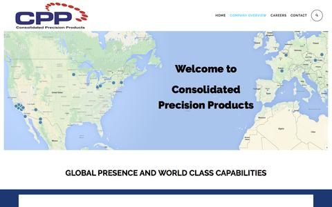 Screenshot of Locations Page cppcorp.com - Consolidated Precision Products » LOCATIONS - captured Nov. 11, 2016