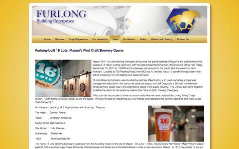 Screenshot of Press Page furlongbuilding.com - News   Furlong Building Enterprises - captured Oct. 14, 2017