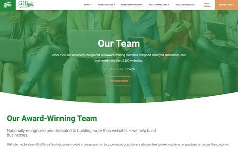 Screenshot of Team Page ghiis.com - GHI Internet Services - Digital Marketing Agency - Management Team - captured Sept. 26, 2018