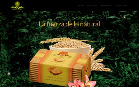 Screenshot of Home Page ninacuro.com - Ninacuro | La fuerza de lo natural - captured Aug. 12, 2015