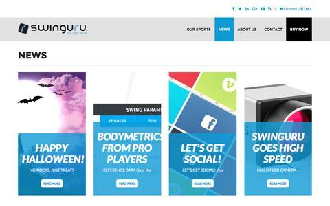 Screenshot of Press Page swinguru.com - News : Swinguru - captured Nov. 17, 2016