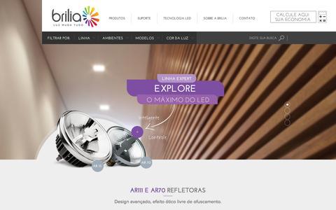 Screenshot of Home Page brilia.com - Home - captured Sept. 19, 2014