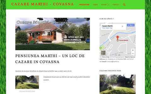 Screenshot of Home Page marthi.ro - Pensiunea Marthi - un loc de cazare in Covasna – Cazare Marthi - Covasna - captured Oct. 17, 2017