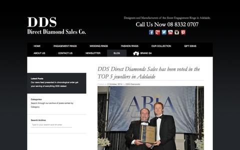 Screenshot of Blog ddsdiamonds.com.au - Blog | DDS Direct Diamond Sales Co. - captured Oct. 5, 2014