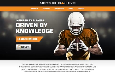 Screenshot of Home Page metricgaming.com - Metric Gaming - captured Oct. 6, 2014