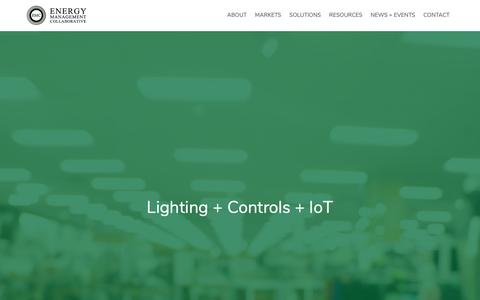 Screenshot of Home Page emcllc.com - Home :: Energy Management Collaborative, LLC - captured Oct. 2, 2018