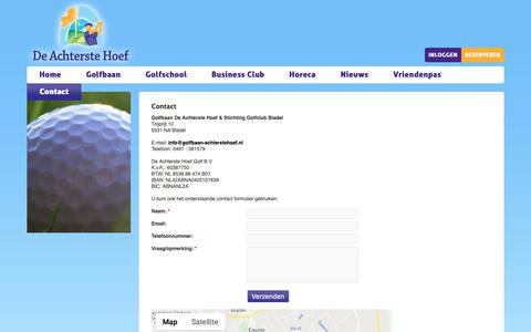 Screenshot of Contact Page golfbaan-achterstehoef.nl - Contact opnemen met Golfbaan De Achterste Hoef - captured Nov. 11, 2018