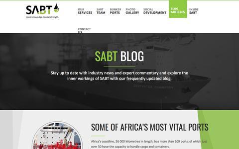 Screenshot of Blog sabunker.com - News & Comment | SABT - captured Feb. 15, 2016
