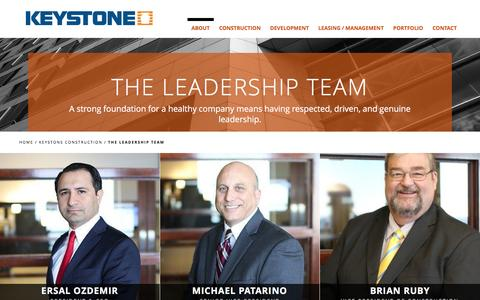 Screenshot of Team Page keystone-corp.com - The Leadership Team - Keystone Construction Corp - captured Feb. 12, 2016