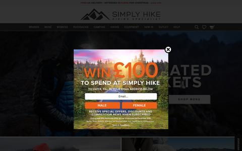 Hiking Clothing & Equipment | Simply Hike UK