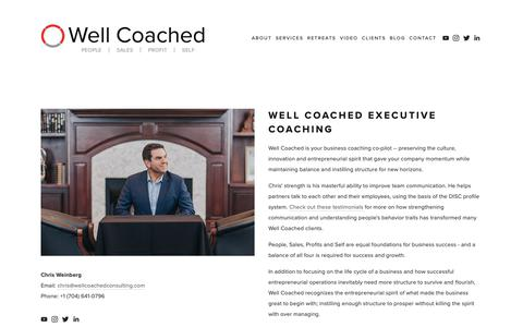 Screenshot of Services Page wellcoachedconsulting.com - Coaching — Well Coached - captured Oct. 20, 2018