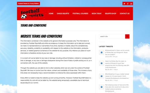 Screenshot of Terms Page footballsquirts.co.uk - Football Squirts |   Terms and Conditions - captured Sept. 30, 2014