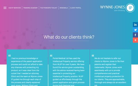 Screenshot of Testimonials Page wynne-jones.com - Testimonials | Wynne-Jones - captured Oct. 19, 2018