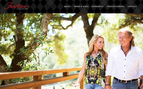 Screenshot of About Page fantesca.com - Our Story - Fantesca Estate & Winery - captured March 3, 2019