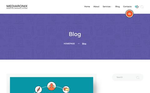 Screenshot of Blog mediaronix.com - Blog-Mediaronix - captured Sept. 27, 2018
