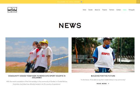 Screenshot of Blog Press Page lovefutbol.org - News — love.fútbol - captured July 24, 2018