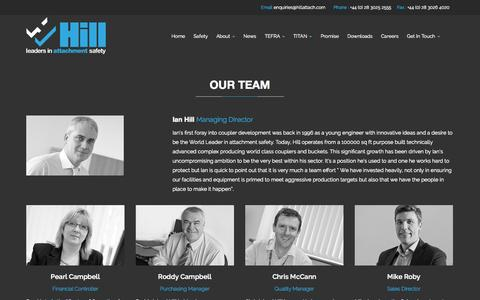 Screenshot of Team Page hillattach.com - Hill Attach    Our Team - captured Oct. 27, 2014