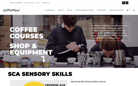 Screenshot of Home Page coffee-mind.com - Coffee Training & Consultancy | CoffeeMind - captured Sept. 28, 2018