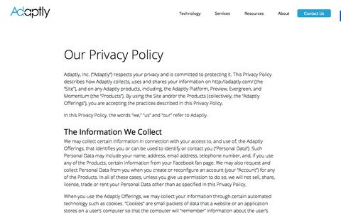 Privacy - Adaptly