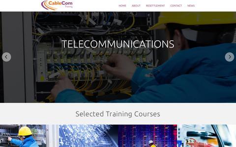 Screenshot of Home Page cablecomtraining.com captured Jan. 16, 2015