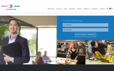 Screenshot of Jobs Page txtav.com - Careers - captured May 30, 2018