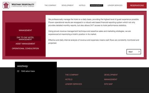 Screenshot of Team Page westwayhospitality.com - Day to Day Hotel Management - westway -  - - captured Feb. 27, 2016