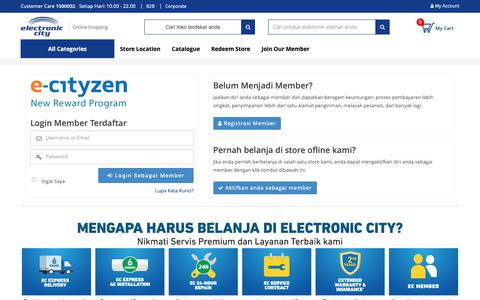 Screenshot of Login Page electronic-city.com - Electronic City  - Login - captured Nov. 9, 2018