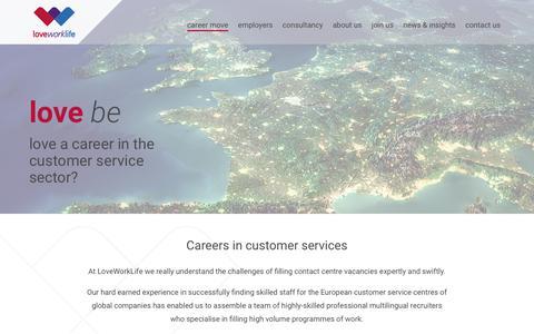 Screenshot of Support Page loveworklife.com - Customer Service - captured Dec. 14, 2017