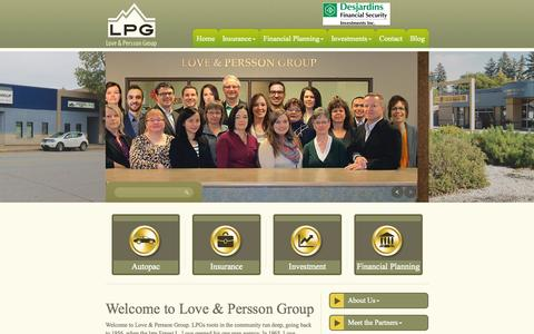 Screenshot of Home Page lpgroup5.com - LPG - LOVE & PERSSON GROUP - captured Sept. 17, 2015
