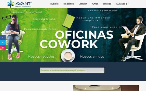 Screenshot of Home Page centrosavanti.com - Centros de Negocios Avanti | Tenemos el talento de México - captured May 8, 2018