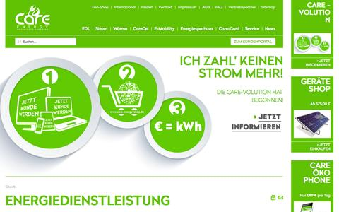 "Screenshot of Home Page care-mobility.com - Care-Energy ""Der Energiedienstleister der Energiewende"" - startseite - captured Oct. 6, 2014"