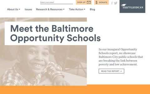 Screenshot of Home Page marylandcan.org - MarylandCAN | Advocate for the Success of All Students - captured June 10, 2017