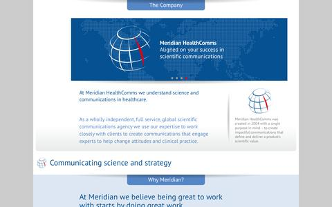 Screenshot of Contact Page Team Page meridian-health.com - Meridian HealthComms - captured Oct. 27, 2014