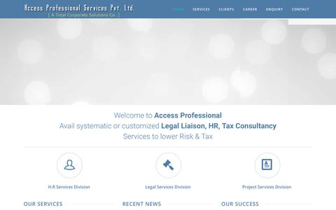 Screenshot of Home Page accessprofessional.in - accessprofessional.in - captured Nov. 20, 2016