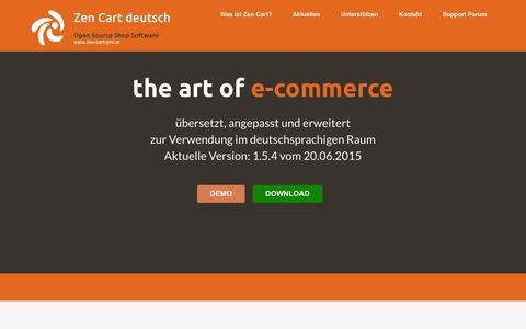 Screenshot of Home Page zen-cart-pro.net - zen-cart-pro.at - Die deutsche Zen Cart Version - captured Aug. 29, 2015