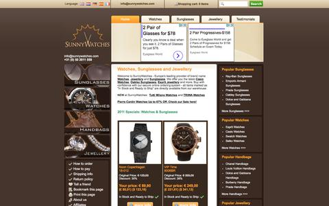 Screenshot of Home Page sunnywatches.com - Casio Watches, Guess Jewellery, Oakley Sunglasses and more! - captured Feb. 23, 2017