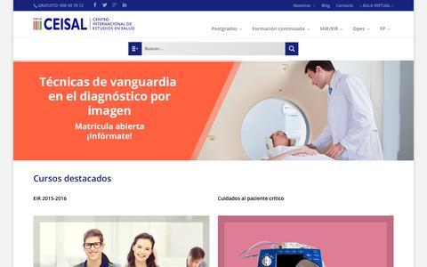 Screenshot of Home Page ceisal.com - Ceisal - Centro Internacional de estudios en salud - captured Sept. 18, 2015