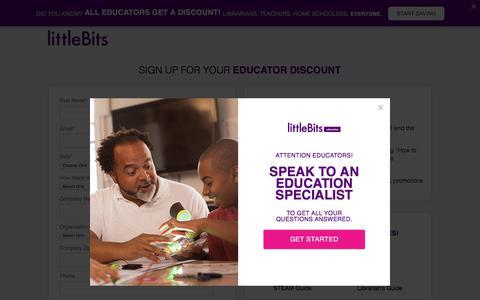 littleBits Educator Discount