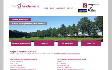 Screenshot of Contact Page hetfundamentaankoopmakelaardij.nl - Contact   Het Fundament Aankoopmakelaardij Tiel - captured July 19, 2018