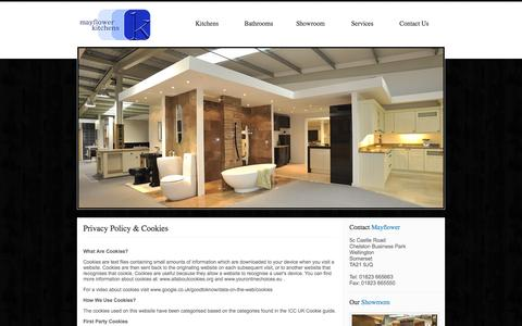 Screenshot of Privacy Page mayflowerkitchens.co.uk - Sitemap : Mayflower Kitchens & Bathrooms Somerset, South West, UK - captured Feb. 12, 2016