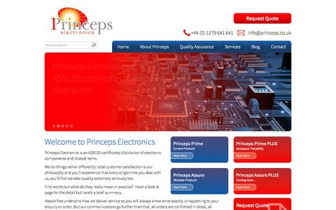 Screenshot of Home Page princeps.co.uk - Welcome to Princeps Electronics - captured Oct. 3, 2014